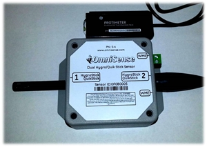 Picture of S-4 Wireless Dual Channel T, %RH, WME Sensor Compatible with GE Protimeter HygroStick and QuickStick